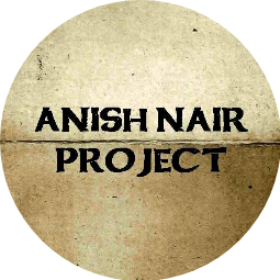 Anish Nair Project Profile Pic